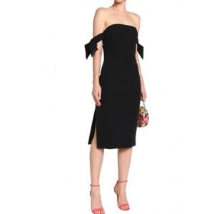 Milly Black Off Shoulder Dress